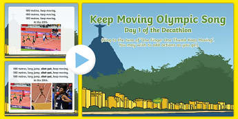 Keep Moving Olympic Song PowerPoint