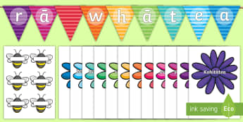 Buzzy Bee Birthdays Display Pack - birthdays, graph, pictograph, Te reo, Maori, new zealand,
