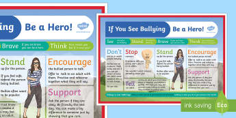 If You See Bullying Poster - if, see, bullying, poster, display, display poster