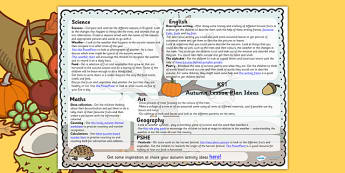 Autumn Lesson Plan Ideas KS1 - autumn, lesson, plan, ideas, autumn ideas, lesson ideas, lesson plan ideas, KS1, KS1 lesson, KS1 lesson plan ideas
