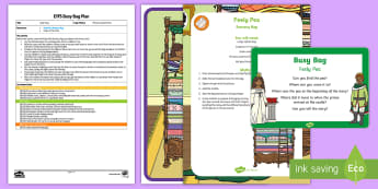 Feely Peas Busy Bag Plan and Resource Pack - eyfs, early years, princess, peas, feely, sensory, table top activity, quiet time activity, preschoo
