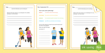 PE Generic Assessment For Learning Techniques Card - PE, fitness, AFL, exercise, peer assessment