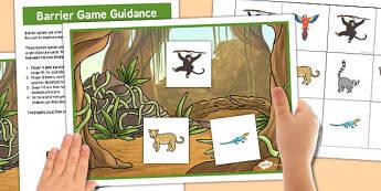 Jungle Barrier Game - jungle, barrier, game, activity, class