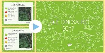 Juego interactivo: ¿Qué dinosaurio soy? - Dinosaurios, pre-historia, dinos, tiranosaurio, estegosaurio, triceratops, proyectos, aprendizaje ba
