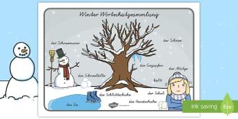 winter 12 klasse themen materialien auf deutsch