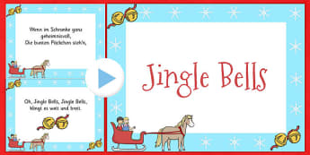 Jingle Bells Christmas Carol Lyrics PowerPoint German - german, jingle bells, christmas, carol, lyrics, powerpoint