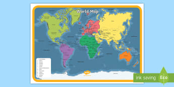 Name and locate the worlds seven continents and ks1 world map poster gumiabroncs Image collections