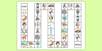 Word Initial f Board Game - speech sounds, phonology, phonological delay, phonological disorder, articulation, dyspraxia, stopping