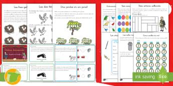 Pack de recursos de matemáticas: Fichas de actividad y tarjetas de desafío - Problemas, suma, sumar, adición, adicionar, multiplicación, multiplicar, división, dividir, matem