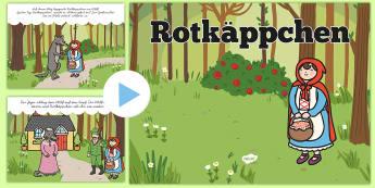 Rotkäppchen PowerPoint - Rotkäppchen, Märchen, PowerPoint,German