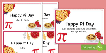 Pi Day Postcards - pi, circumference, circle, area, radius, diameter, poster, decoration