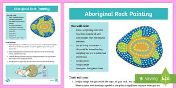 Australian Aboriginal Rock Painting Artwork