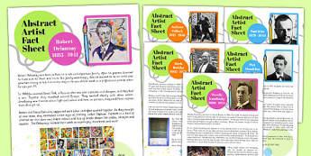 Abstract Artist Fact Sheets - abstract, artists, fact, sheets