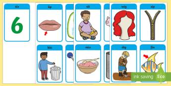 CVC Word Cards (i) - CVC, CVC word, three phoneme words, three sound words, consonant vowel consonant, words, three letter words, letters and sounds, DfES letters and sounds