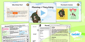 Plants: Jack and the Beanstalk: Personal Writing 1 Y3 Lesson Pack - Traditional stories, life processes, living things, explanation texts, seed, diary