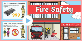 Fire Safety  PowerPoint  - fire safety, fire safety powerPoint, staying safe, personal safety, fire safety rules