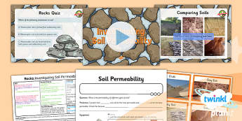 Science: Rocks: Investigating Soil Permeability Year 3 Lesson Pack 6