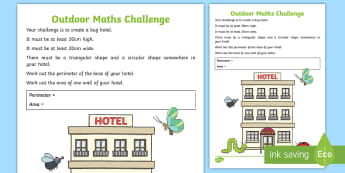Marvellous Maths First Level Outdoor Challenge Activity - maths week, scotland, Initiative, numeracy, outdoor learning