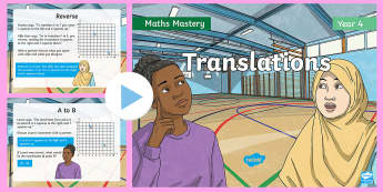 Year 4 Translations Maths Mastery PowerPoint - Reasoning, Greater Depth, Abstract, Problem Solving, Explanation