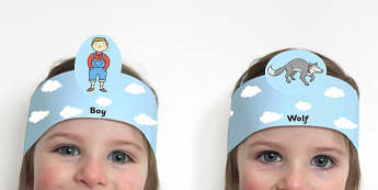 The Boy Who Cried Wolf Role Play Headband - Aesop's fables, props