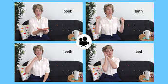 British Sign Language: Baby Sign Bedtime Signs Video Clip - british sign language, baby signs, video clip, bedtime signs