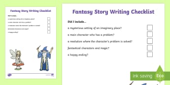 KS1 Fantasy Story Writing Checklist - fantasy story, fantasy stories, fantasy, fantastical, magic, mystery, narrative, write, writing, sto