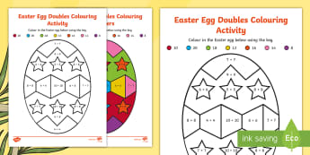 Easter Egg Doubles Colouring Activity Sheet - NI - Lent Resources and Translations - 1st March 2017, doubles, Easter, easter egg, Lent,