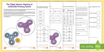The Mystery of the Unspinning Fidget Spinners Game  - fidget spinners, maths mystery game, problem solving, mystery game, KS2, year 3, year 4, year 5 year