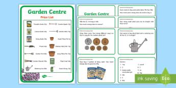 Garden Centre Maths Challenge Cards KS2 - garden centre role play, garden centre, garden centre numeracy, garden centre challenge cards, maths questions