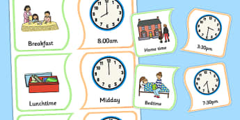 Event Time Matching Card Game - event, time, matching, card game, card, game, activity, time matching, match