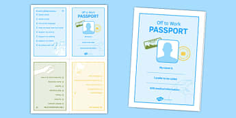 Off to Work Passport Activity Booklet