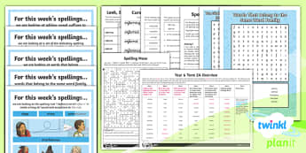 PlanIt Y6 Term 2A Bumper Spelling Pack - Spellings Year 6, weekly, spelling, lists, pack, SPaG, assessment, dictation, GPS, Y6,Australia