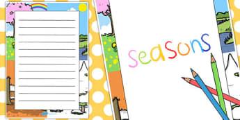 Seasons Decorative Page Border - seasons, decorative, page border