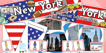 New York Tourist Information Office Role Play Pack-new york, tourist information, tourist, role play, role play pack, new york pack, tourist