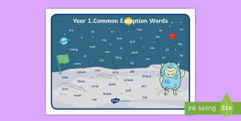 Year 1 Common Exception Words  Word Mat - Year 1 Common Exception Words  Word Mat - common exception, words, year 1, yr1, word mat, common exc