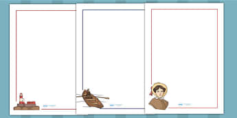 Grace Darling Page Borders - writing frame, writing aid, write