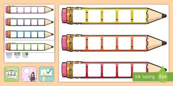Large Reading Pencil Targets - large, reading, pencil, targets, read, pencil target