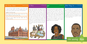 Civil Rights Movement Fact Cards - Civil Rights Movement, Martin Luther King, rosa parks, malcolm x, rights, ruby bridges, mohandas gan
