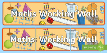 Maths Working Wall Display Banner - maths, numeracy, math display, Maths wall, banner, display