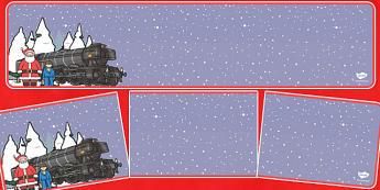 Christmas Train Journey Editable Banner for Publisher - christmas, train, journey, banner, editable
