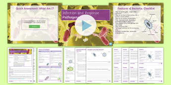 AQA Infection and Response Lesson 1: Pathogens Lesson Pack  - bacteria, viruses, protists, fungi, contamination, GCSE