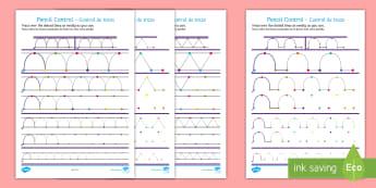 * NEW * Pattern Workbook Pencil Control Worksheet / Activity Sheets - English / Spanish - Pencil Control Pattern Workbook - pencil control, motor skills, literacy, writing, handwriting, fine