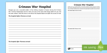 KS2 Crimean War Differentiated Writing Activity Sheets - KS2 Florence Nightingale's Birthday (12.5.17), Victorians, Crimean War, crimean war, victorians, Fl