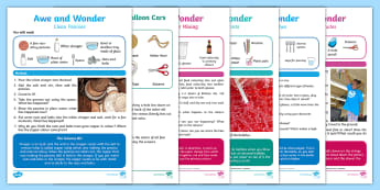 CFE Early Level British Science Week Exploring Our Homes Resource Pack - STEM, STEAM, experiments, 9th March 2018,Scottish, awe and wonder, experiments, pennies, ballons, ca