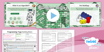 Computing: Programming Toys: Building Bricks Year 1 Lesson Pack 1 - algorithms, unplugged, ICT, Key Stage 1, Coding, instructions, lesson plan, powerpoint, y1, year one