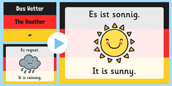 German Weather PowerPoint - german, weather, powerpoint, language, wetter