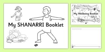 SHANARRI Wellbeing Indicators Drawing Booklet - CfE, SHANARRI, GIRFEC, healthy, happy, safe, protected