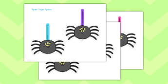 Finger Spacing Spiders - writing, words, sentences, pd, fine motor skills, fun, spooky, halloween,