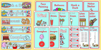 The Fairground Role Play Pack-the fairground, role play, pack, fairground pack, role play pack, the fair, fairground games, rides, games