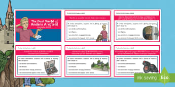 The Dual World of Anders Arnfield Descriptive Writing Challenge Cards - originals, reading, guided, description, setting, recount, retell, story